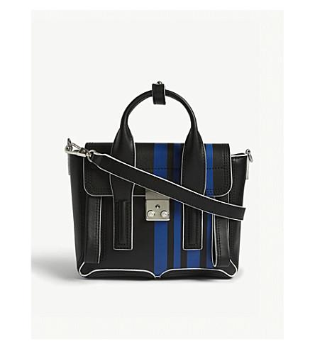 3.1 PHILLIP LIM Pashli mini satchel (Black/blue