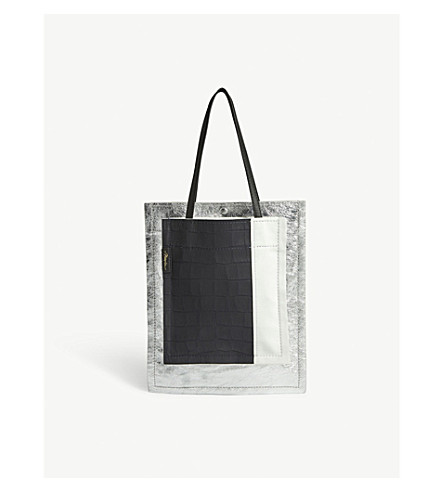 3.1 PHILLIP LIM Metallic leather shoulder bag (Silver