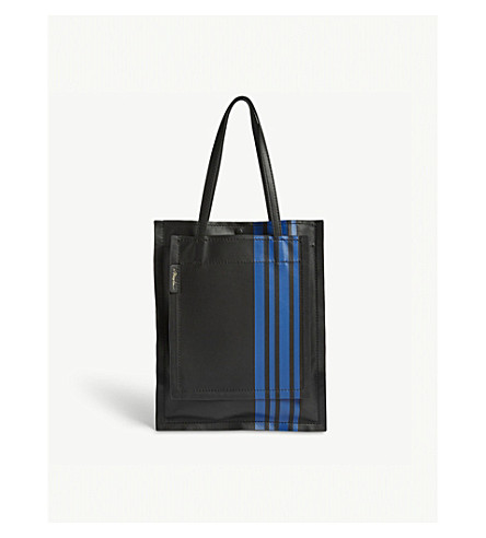 3.1 PHILLIP LIM Accordion striped leather tote (Black
