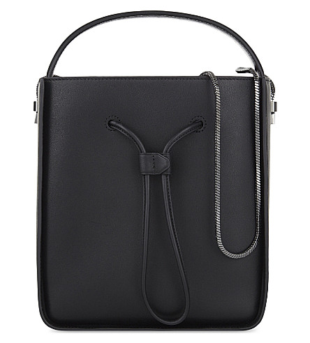 3.1 PHILLIP LIM Soleil small leather bucket bag (Blk