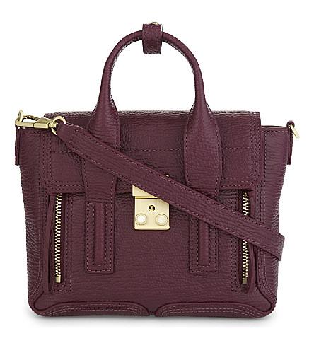 3.1 PHILLIP LIM Pashli mini pebbled leather satchel (Aubergine