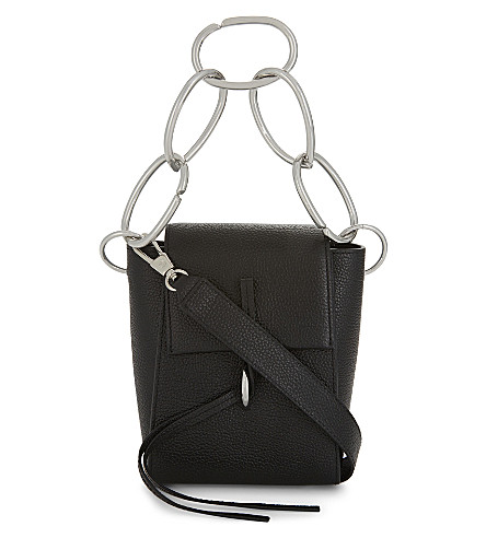 3.1 PHILLIP LIM Leigh chain-link leather shoulder bag (Black