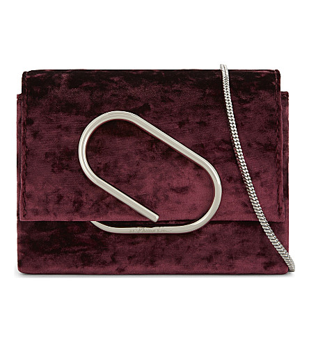 3.1 PHILLIP LIM Alix micro velvet cross-body bag (Syrah