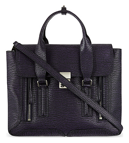 3.1 PHILLIP LIM Pashli medium satchel (African violet/nickel