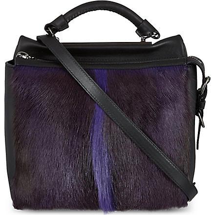 3.1 PHILLIP LIM Ryder small satchel (Ultra violet/gunmetal