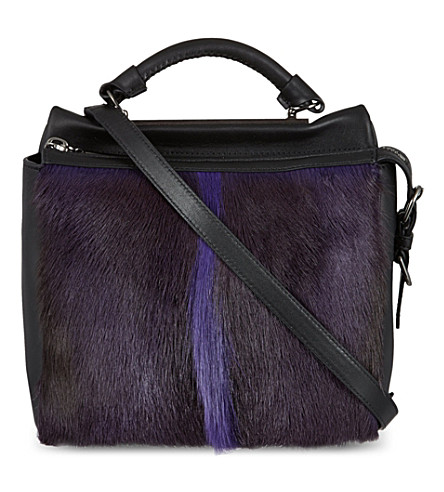 3.1 PHILLIP LIM Ryder small satchel (Ultra violet/gunmetal