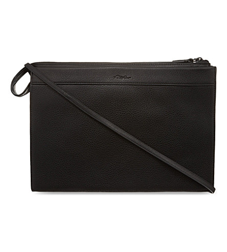 3.1 PHILLIP LIM Large Depeche clutch (Black/black