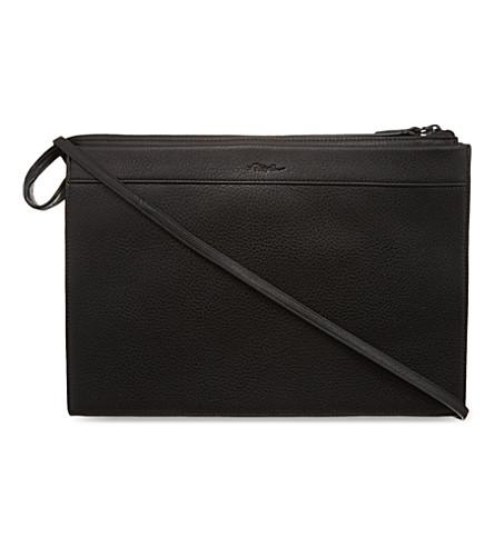 3.1 PHILLIP LIM Large Depeche clutch (Black/black