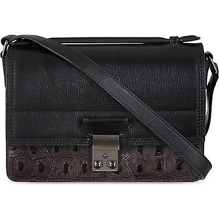 3.1 PHILLIP LIM Pashli Mini Embossed satchel (Soft black/gunmetal