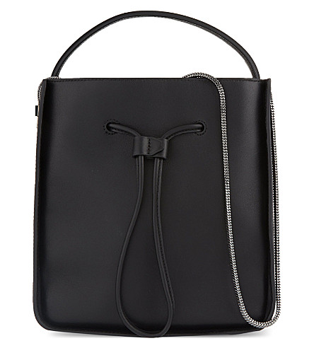 3.1 PHILLIP LIM Soleil leather bucket bag (Blk