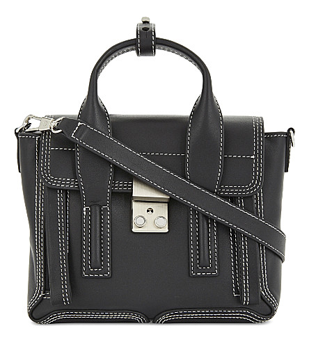 3.1 PHILLIP LIM Pashli mini leather satchel (Black