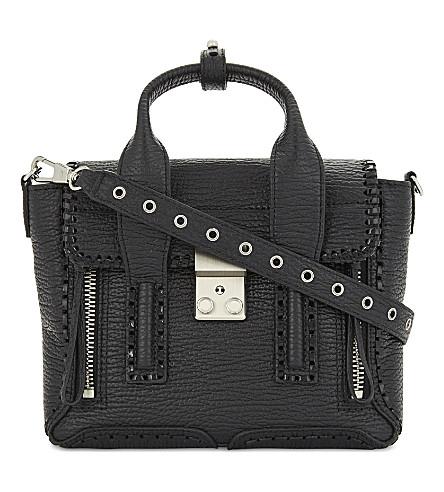 3.1 PHILLIP LIM Pashli leather mini satchel (Black