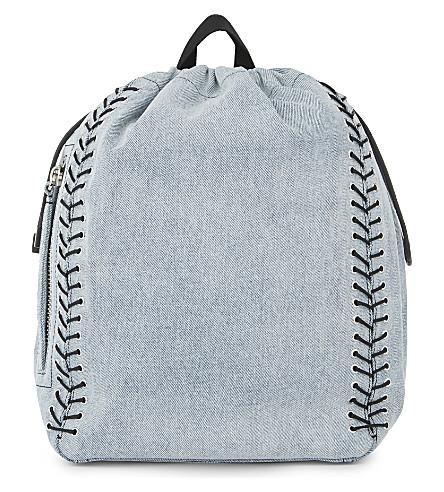 3.1 PHILLIP LIM Go-Go medium washed denim backpack (Washed+light+blue
