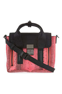 3.1 PHILLIP LIM Pashli mini snake-embossed leather satchel