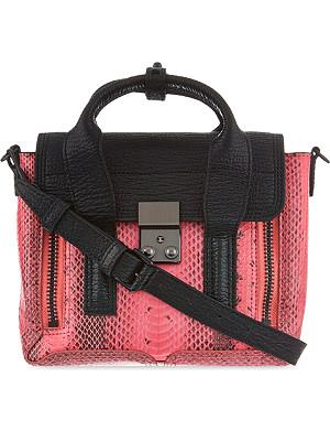 3.1 PHILLIP LIM Pashli mini snake-embossed leather satchel