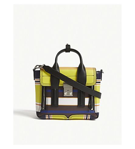 3.1 PHILLIP LIM Pashli leather mini shoulder bag (Chartreuse+multi