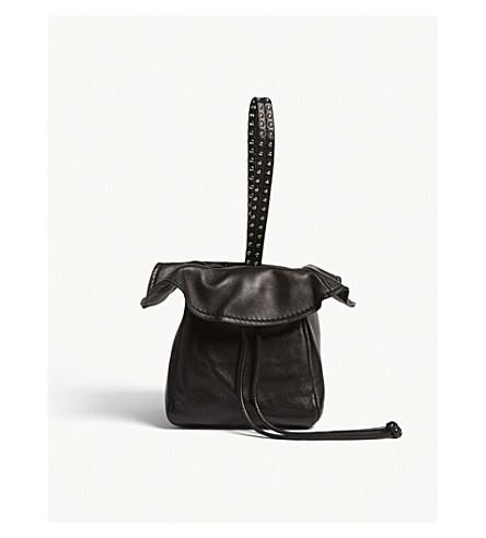 3.1 PHILLIP LIM Ray lamb leather mini glove pouch (Black