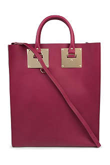SOPHIE HULME Double plate matt-leather tote
