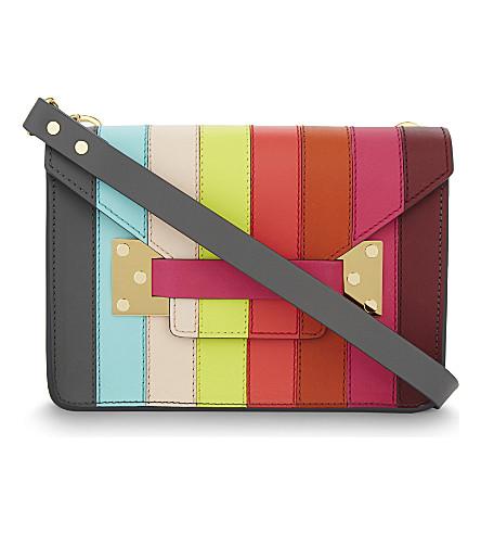 SOPHIE HULME Milner Mini envelope clutch (Rainbow