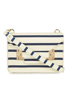 SOPHIE HULME Mini striped envelope bag