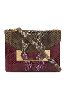 SOPHIE HULME Snakeskin mini soft envelope clutch