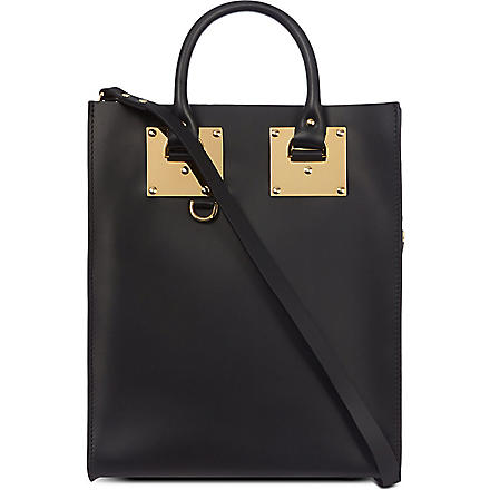 SOPHIE HULME Leather tote (Black