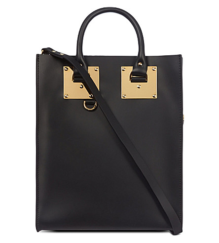 SOPHIE HULME Leather tote (Black