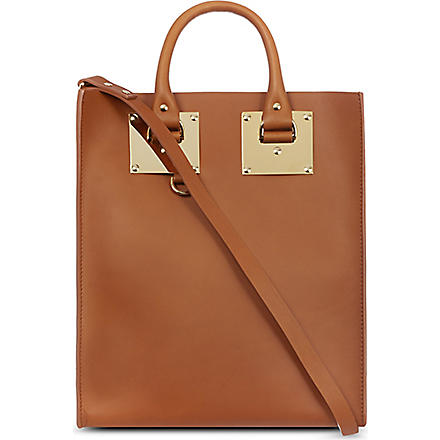 SOPHIE HULME Leather tote (Tan