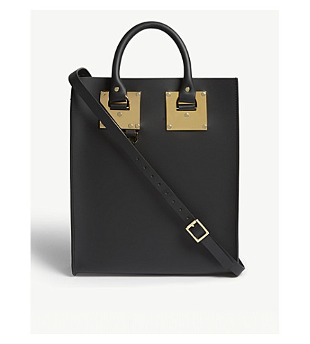 SOPHIE HULME Mini Albion leather tote (Black