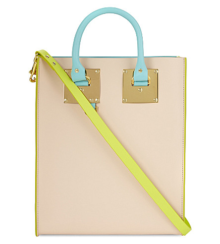 SOPHIE HULME Albion mini leather tote (Colour block