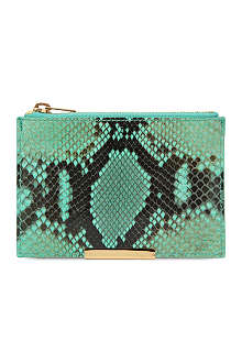 SOPHIE HULME Snake small zip pouch