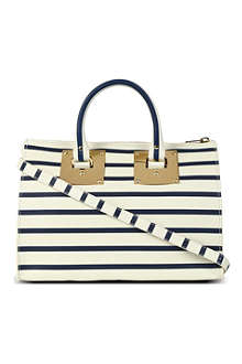 SOPHIE HULME Mini striped bowling bag