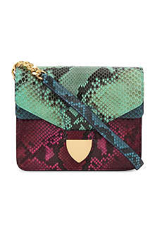 SOPHIE HULME Snake print mini spear tab bag