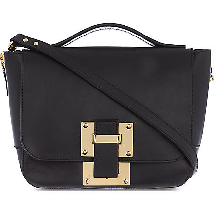 SOPHIE HULME Mini soft flap bag (Black
