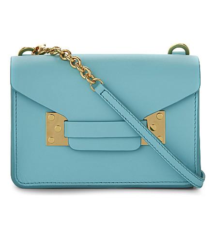 SOPHIE HULME Nano Milner mini envelope bag (Aqua