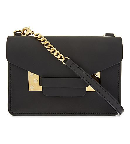 SOPHIE HULME Nano Milner mini envelope bag (Black