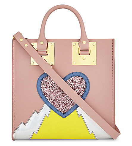SOPHIE HULME Albion Square leather tote (Pink/multi