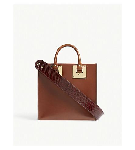 SOPHIE HULME The Albion Square leather shoulder bag (Brown/bordeaux