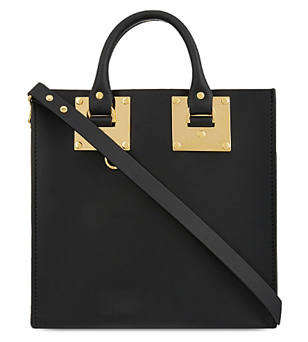 SOPHIE HULME Albion Square small leather shopper (Black