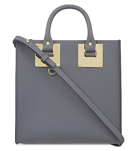 SOPHIE HULME Albion Square small leather shopper (Charcoal