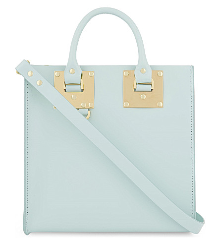 SOPHIE HULME Albion Square small leather tote (Duck egg