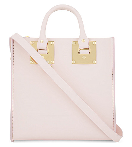 SOPHIE HULME Albion Square small leather tote (Pastel pink