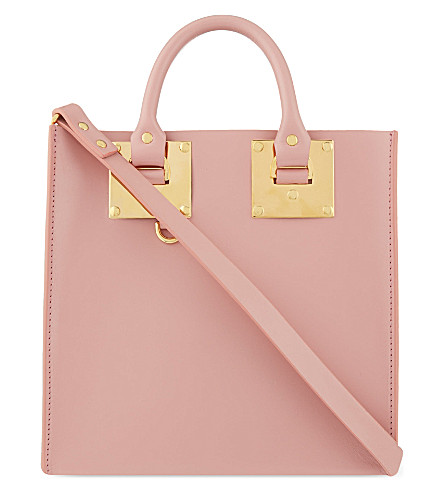 SOPHIE HULME Albion Square small leather tote (Pink