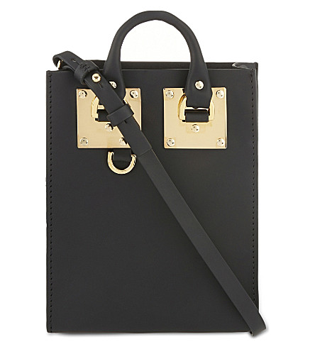 SOPHIE HULME Albion nano leather cross-body bag (Black