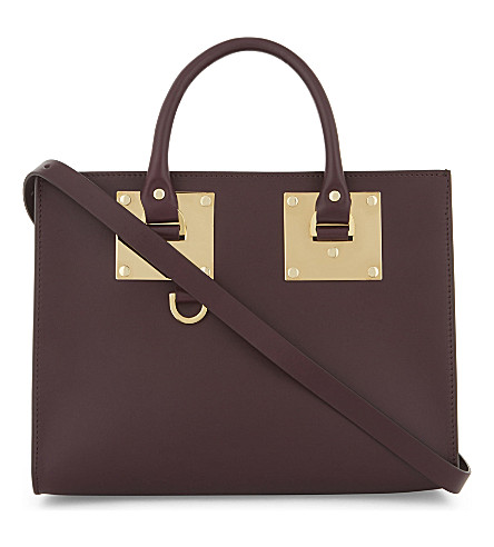 SOPHIE HULME Albion medium leather box tote (Aubergine