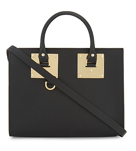 SOPHIE HULME Albion medium leather box tote (Black