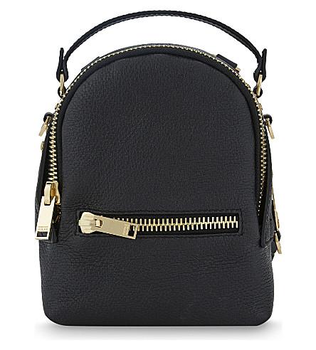 SOPHIE HULME Wilson nano leather backpack (Black