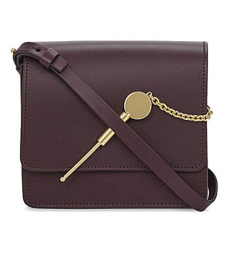 SOPHIE HULME Small cocktail stirrer leather cross-body bag (Aubergine