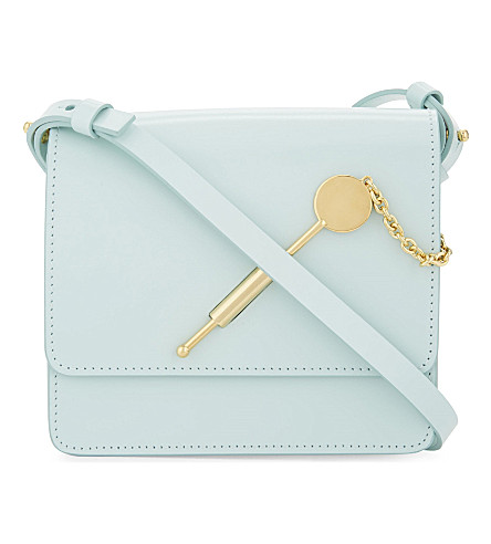 SOPHIE HULME Small cocktail stirrer leather cross-body bag (Duck egg