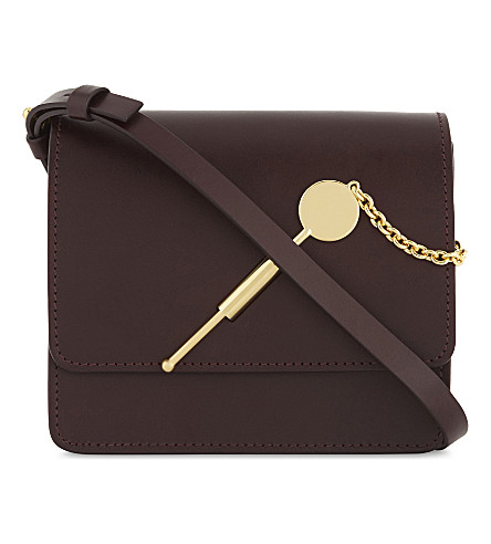 SOPHIE HULME Small cocktail stirrer leather cross-body bag (Oxblood